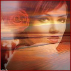 Woman In Red by Cararay. Click to add a photo of yourself and save
