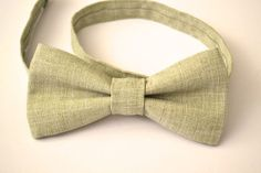 Mens Bowtie in Sage Green by AmandaJoHandmade on Etsy, $20.00
