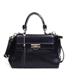 Take a look at this Black Charlotte Tote by Segolene En Cuir on #zulily today! A great alternative to the classic Hermes style without the price tag.