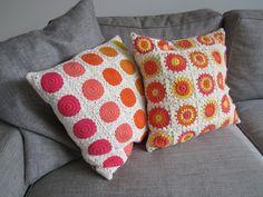 lovely crochet cushions