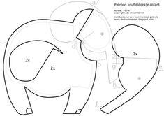 de droomfabriek: Gratis patroon knuffeldoekje Olifant