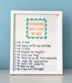 10 Reasons Father's Day Printable