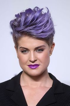 50 Shades Of Rainbow Hair #refinery29  http://www.refinery29.com/colorful-hair-tips#slide-19  Kelly Osbourne loves herself some violet, both on her head and on her lips. ...