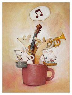 Mouse Music Love, Good Music, Music Music, Maus Illustration, Music Artwork, Music Decor, Music Wallpaper, Hamsters, Cute Art