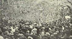 1919 - Comício no Largo da Sé (atual praça da Sé) em prol da candidatura de Rui Barbosa à presidência da república.