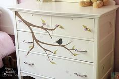hand painted or vinyl decal dresser