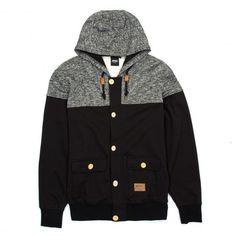WRUNG Deen sweat zippé à capuche bleu marine - noir 89,00 € #skate #skateboard…