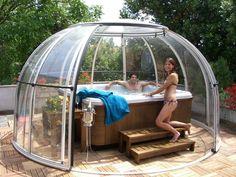 Pin on Pool ideas Hot Tub Patio, Hot Tub Gazebo, Swimming Pools Backyard, Backyard Landscaping, Lap Pools, Indoor Pools, Pool Decks, Jacuzzi Outdoor, Jacuzzi Tub