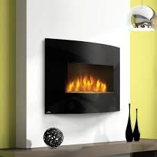 Image result for curved black fireplace on lime green wall