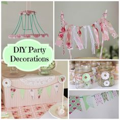 Bubble and Sweet: Pretty pastel party - Lilli's 9th Birthday Party pink and green ruffles and rosette on a budget