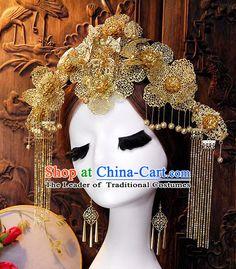 Chinese Empress Princess Queen Black Wigs and Hair Accessories Hair Jewelry Fascinators Headbands Hair Clips Bands Bridal Comb Pieces Barrettes Japanese Wedding Kimono, Bridal Hair Ornaments, Chinese Hair, Fascinator Headband, Black Wig, Bridal Comb, Queen Hair, Hair Sticks, Hanfu