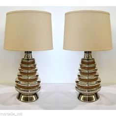 Modern Rope Table Lamp Set of 2 Nautical Traveler Home Decor Free Shipping New