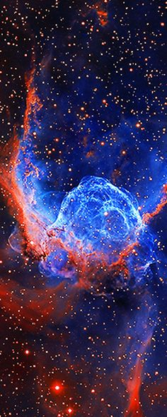 Thor's Helmet, NGC 2359, a helmet-shaped nebula w/wing-like appendages