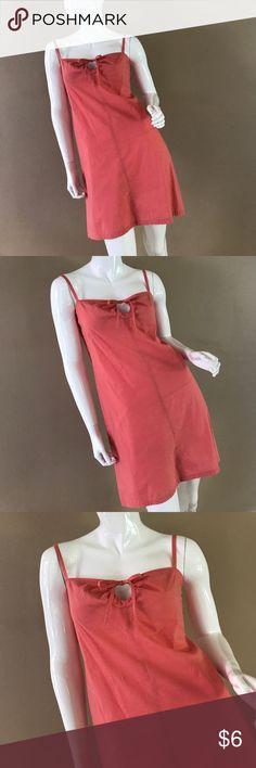 WORKSHOP. Peachy-Pink Dress, Peek-a-boo cleavage. WORKSHOP Pink Summer Dress, listed as a 10, but fits like a size 6 workshop Dresses Mini