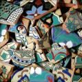 a pound of broken tiles for under 3 dollars! Mosaic Pots, Mosaic Diy, Mosaic Garden, Mosaic Crafts, Mosaic Projects, Mosaic Glass, Art Projects, Stained Glass, Concrete Projects