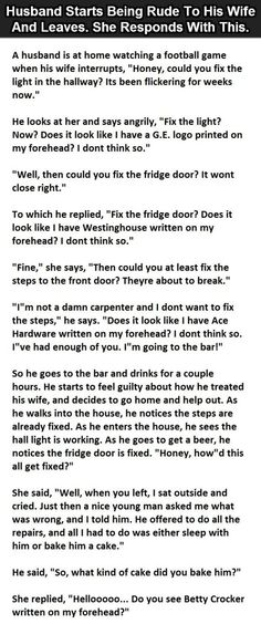Angry husband got the taste of his own medicine…this is hilarious. (Click To Enlarge). - Likes