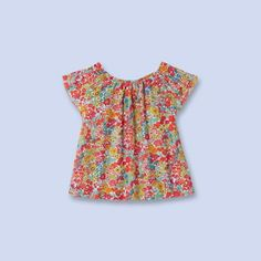 Cotton Liberty print blouse MULTICOLORED Girl - Boys and girls Clothes - Jacadi Paris