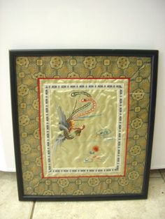 Vintage Chinese Silk Embroidery Panel - Framed | eBay