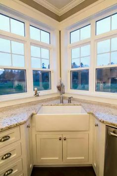 Corner Apron Sink Design Ideas, Pictures, Remodel And Decor Part 33