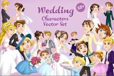 30+ Wedding Characters Vector Set   GraphicMama Here Comes The Bride, Invitation Cards, Design Bundles, Your Design, Presentation, Characters, Wedding, Valentines Day Weddings, Figurines