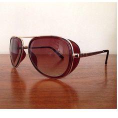 8b2a3441841 Vintage looking Retro Steampunk Tony Stark Sunglasses