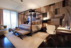 masculine global bedroom decor - Google Search