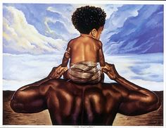 Black Art African American Father and Child American Children, African American Art, Art Children, American Women, Child Art, Man Child, Claudia Tremblay, Arte Black, Bd Art