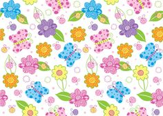 Funky Flowers and Butterfly Print by DonCabanza on DeviantArt