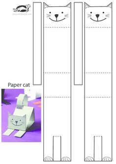 Kids activities, more than 2000 coloring pages - ORIGAMI Cat Crafts, Animal Crafts, Diy And Crafts, Crafts For Kids, Paper Crafts Kids, Children Crafts, Projects For Kids, Diy For Kids, Paper Animals