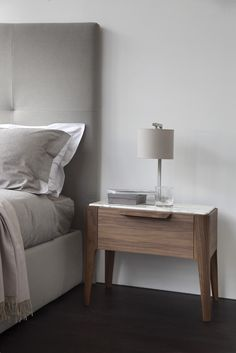 CHEST OF DRAWERS AND BEDSIDE TABLES - EN | Ziggy Night Great simplistic design...the look and feel of a marble top is pleasing...