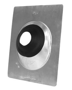Fold-Style Rain Cap for Roof Vent Pipe 4 Pipe Low Profile and Adjustable Pipe Cover Can Be Mounted on Vent Pipe or Roof Flashing Roof Vent Cap in Galvanized Steel