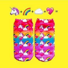 What do you get when you add ++☁️+ together??? Magical #anklesocks! #toptrenz #unicorns #unicorn #knockyoursocksoff #socklife #sockgame #anklesocks
