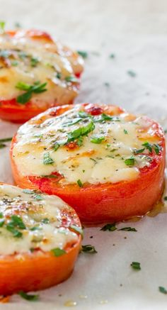Baked Parmesan Tomatoes. Those look amazing.