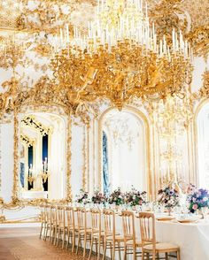 The Palais Liechtenstein in Vienna is the perfect example of elegant opulence  What a dining room !