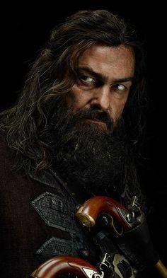 Ray Stevenson stars as Blackbeard in Black Sails (STARZ Black Sails Cast, Black Sails Starz, Black Sails Blackbeard, Charles Vane, Ray Stevenson, Captain Flint, Tom Hopper, Viking Men, Pirate Adventure