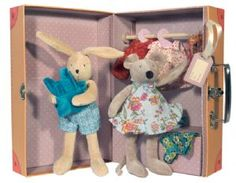 plush rabbit and mouse with wardrobe :)