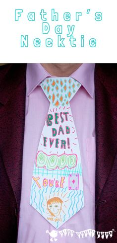 Father's Day Craft, Personalised Necktie