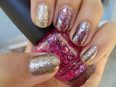 There is nothing more than this girl loves than glitter nail polish!