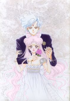 chibiusa and helios | Tumblr - thats coooool.looks like someone altered the usagi and mamoru original art and changed out it to chibiusa and helios