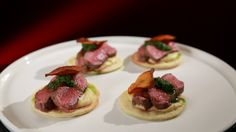 Lamb Backstrap with Cauliflower Purée and Salsa Verde