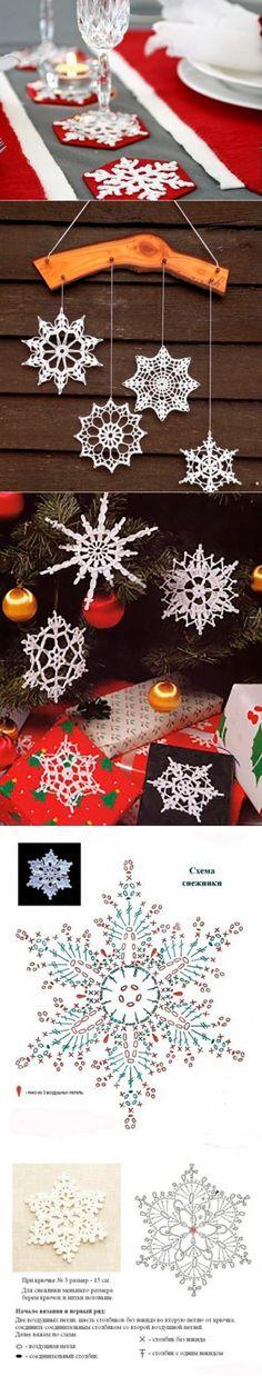 Украшаем дом новогодними снежинками: 58 вариантов вязания крючком