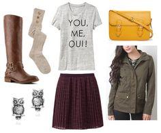 College Fashion - Easy Outfit Formulas: Chiffon Skirt + Utility Jacket