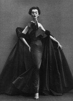 Evening dress by Jacques Fath, Paris, August 1950, Photo by Richard Avedon