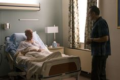 L to R: J.K. Simmons, Hank Azaria. This hilarious show about a baseball announcer (Azaria) on the road to redemption featured Simmons as a former mentor who is dying. Bed, Hilarious, Baseball, Furniture, Home Decor, Decoration Home, Stream Bed, Room Decor