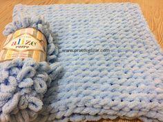 Pratik Yazar, Örgü Modelleri, El İşi Örnekleri, Yemek, Tatlı Tarifleri » Alize Puffy (Pufi) Örgü İpi ile Bebek Battaniyesi Nasıl Yapılır? (Baştan Sona Anlatım) – örgü kanalı Hand Knit Blanket, Knitted Blankets, Merino Wool Blanket, Baby Knitting Patterns, Hand Knitting, Crochet Hats, Projects, Breien, Knitting Hats