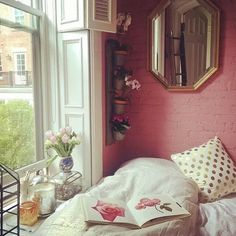 Find images and videos about flowers, home and room on We Heart It - the app to get lost in what you love. Living Room Decor, Living Spaces, Pink Room, Pink Walls, My Room, Home Furniture, Interior Design, Inspiration, Home Decor