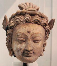 Afghanistan femminile, dal sito di hadda monastero di tapa-i-kafariha, III-IV sec. Bagh-Gai, Art of Gandhara in the Musée Guimet.   Flickr: Intercambio de fotos