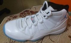 Air Jordan XI (11) Retro – White Columbia- Blue Black 2014 Sample d1910c9408