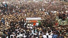 Tamil Nadu Chief Minister J. Jayalalithaa was laid to rest at Marina Beach near her mentor and AIADMK founder M.G. Ramachandran's (MGR) memorial