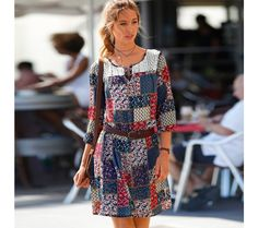 Šaty s patchworkovou potlačou | blancheporte.sk #blancheporte #blancheporteSK #blancheporte_sk #spring #summer #wear Spring Summer, Dresses With Sleeves, Long Sleeve, Project Ideas, Casual, Fashion, Scrappy Quilts, Gowns With Sleeves, Moda